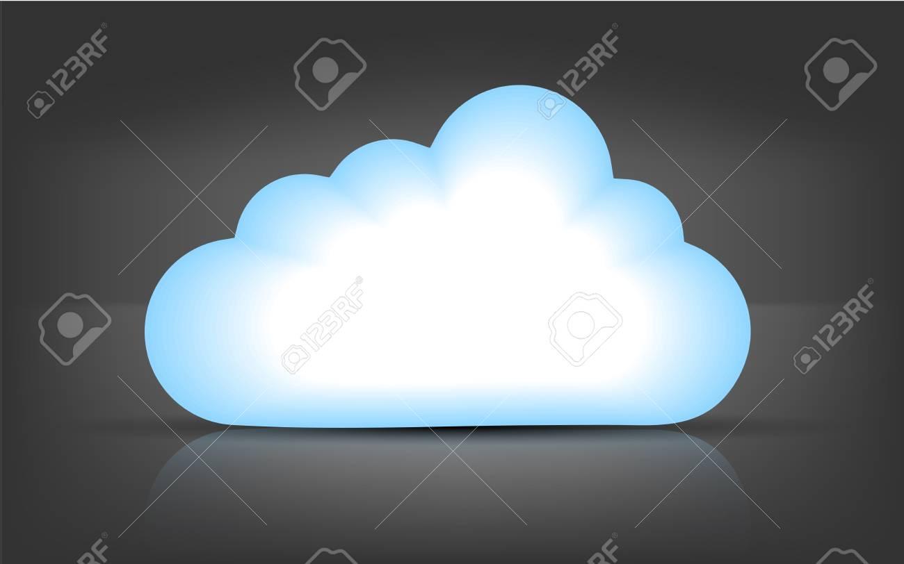 Vector computer cloud on black bsckground. Eps 10 Stock Vector - 15145302
