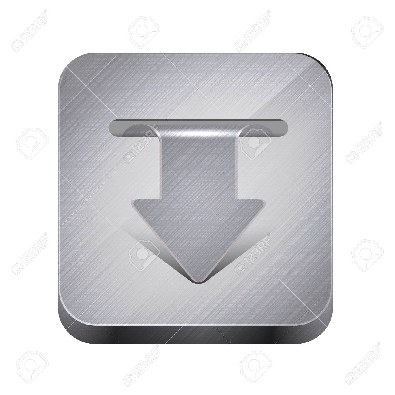 metal app icon isolated on white. Stock Vector - 15145232