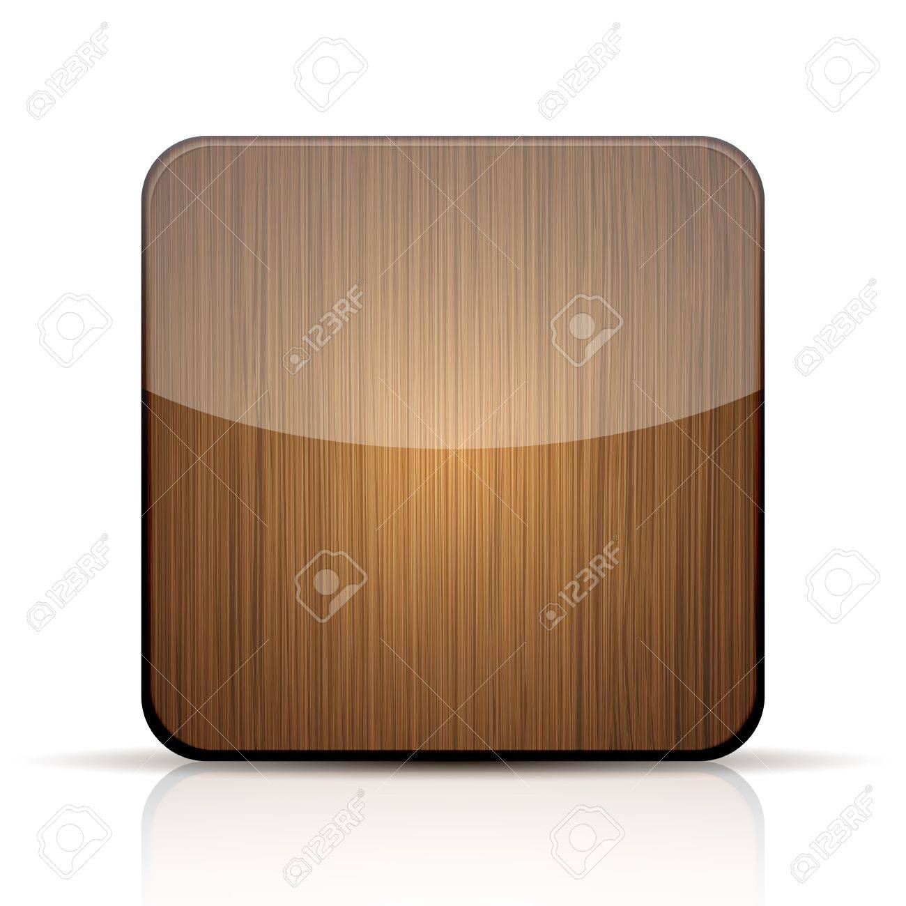 wooden app icon on white background. Stock Vector - 15146215