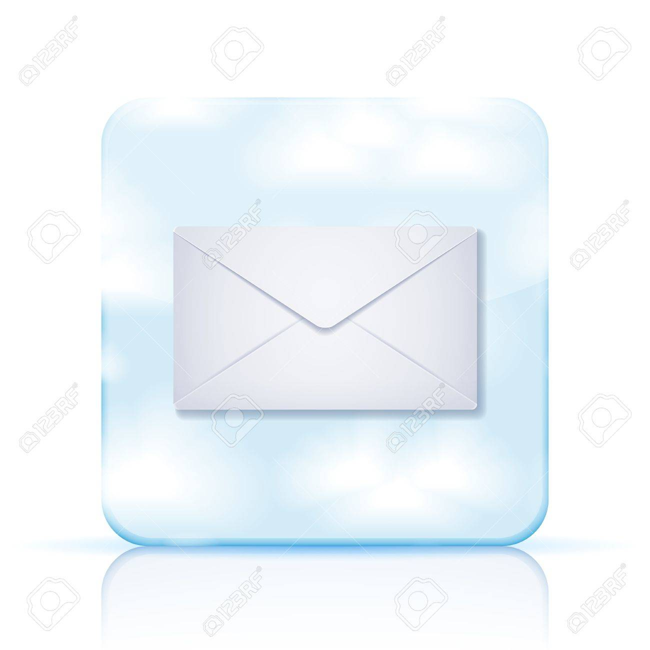 Vector mail app icon on white background. Stock Vector - 15436378