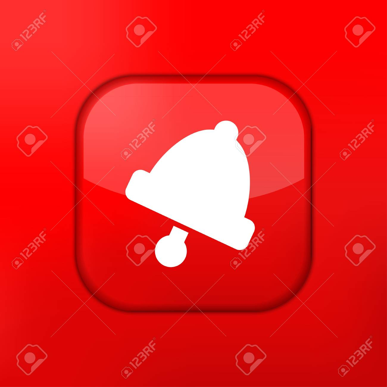 Vector red bell icon. Eps10. Easy to edit Stock Vector - 15709463