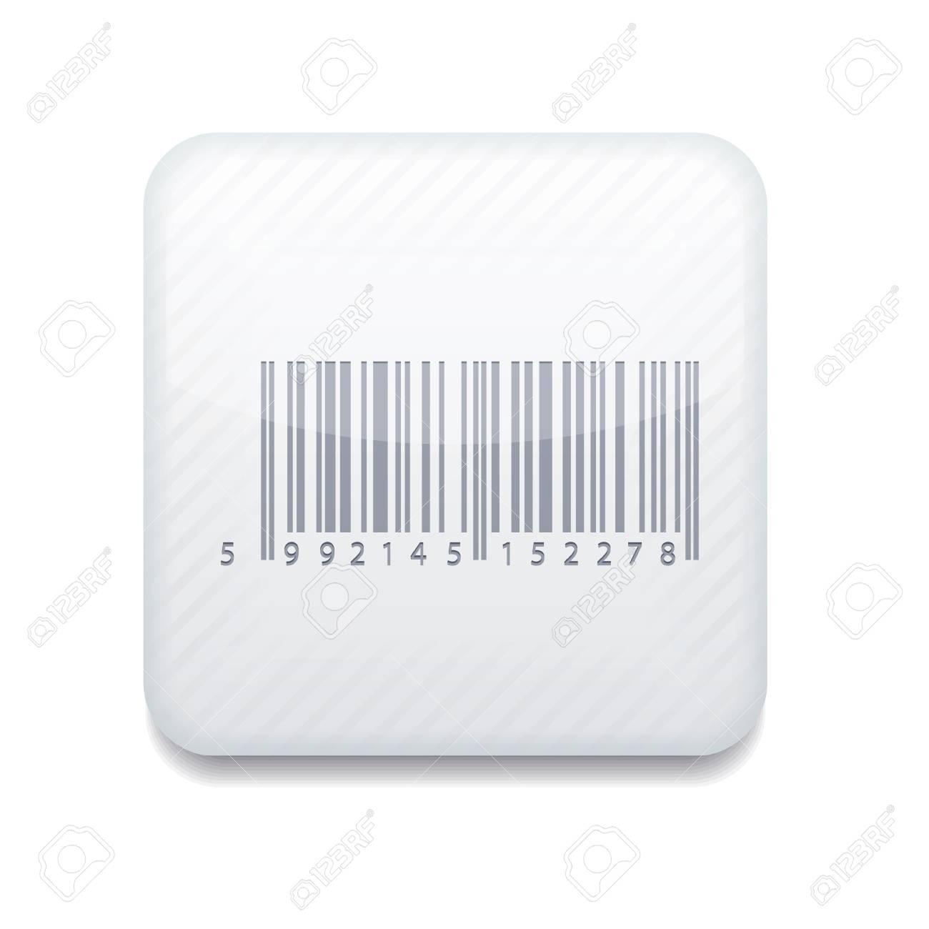 white bar code icon. Stock Vector - 15952497