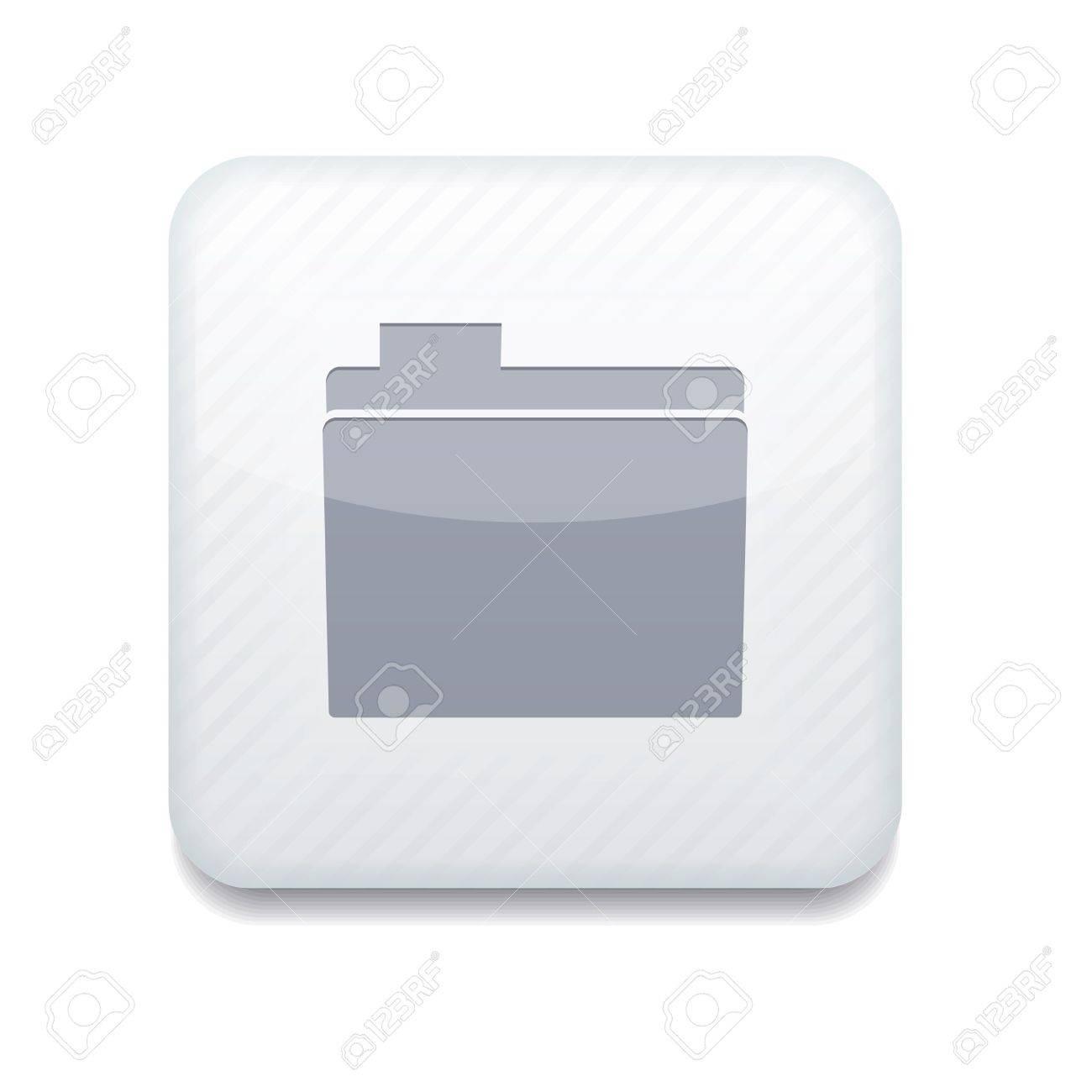 white folder icon. Stock Vector - 15951619