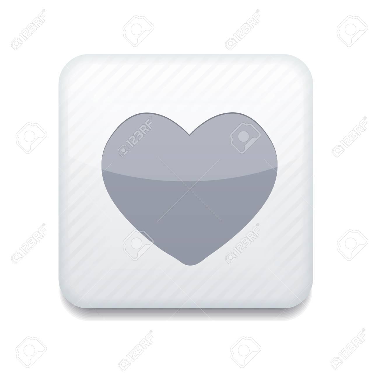 white heart icon. Stock Vector - 15951614