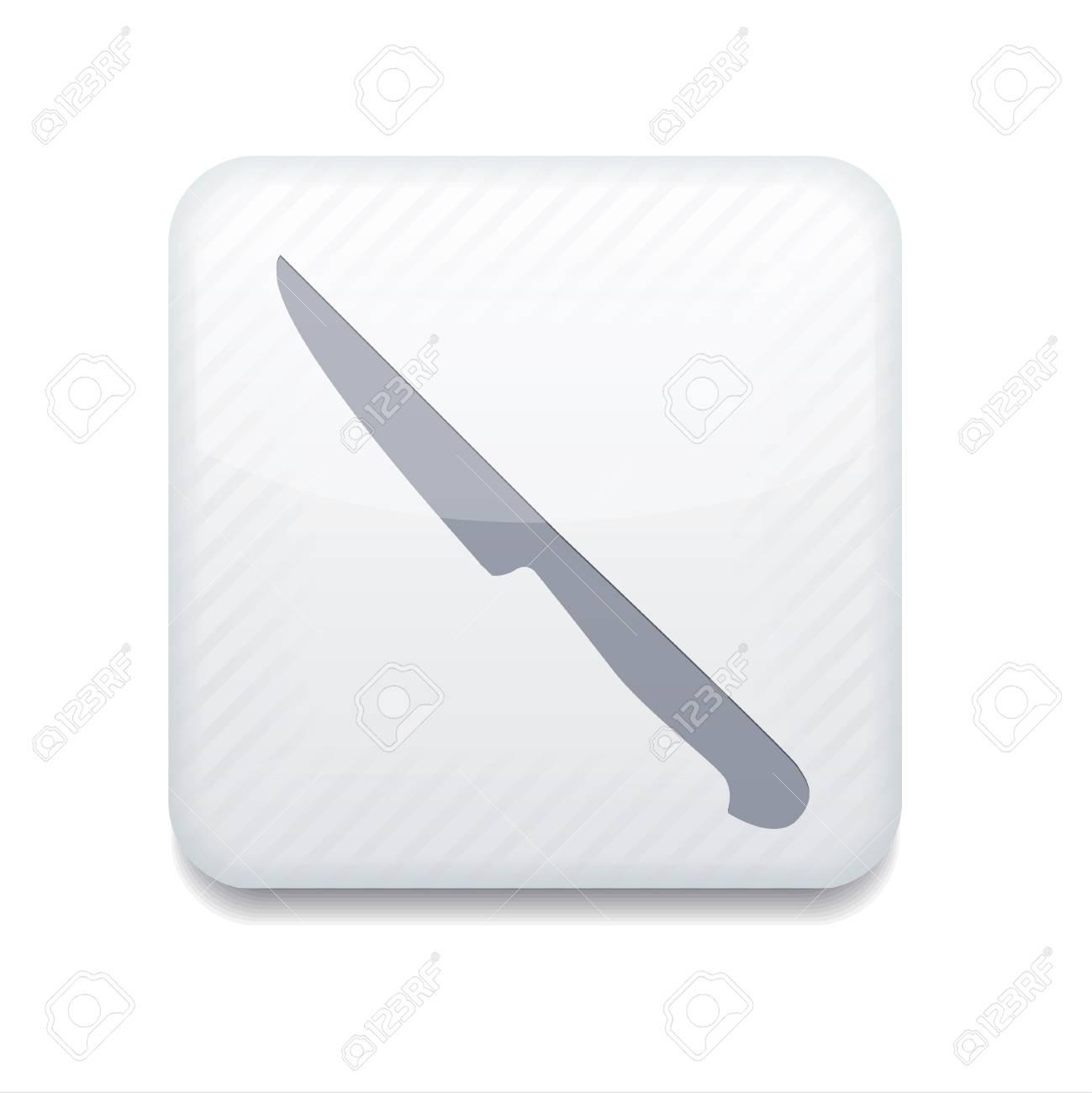 white knife icon. Stock Vector - 15951628