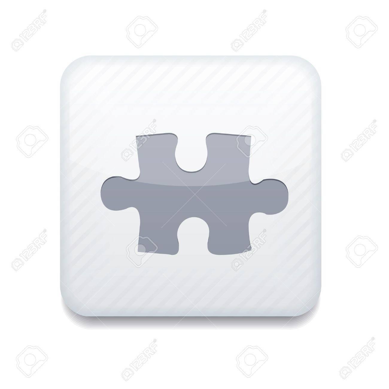 white puzzle icon. - 15951731