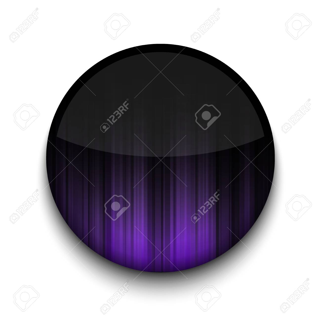 Vector abstract circle app icon on white background. Stock Vector - 16200200