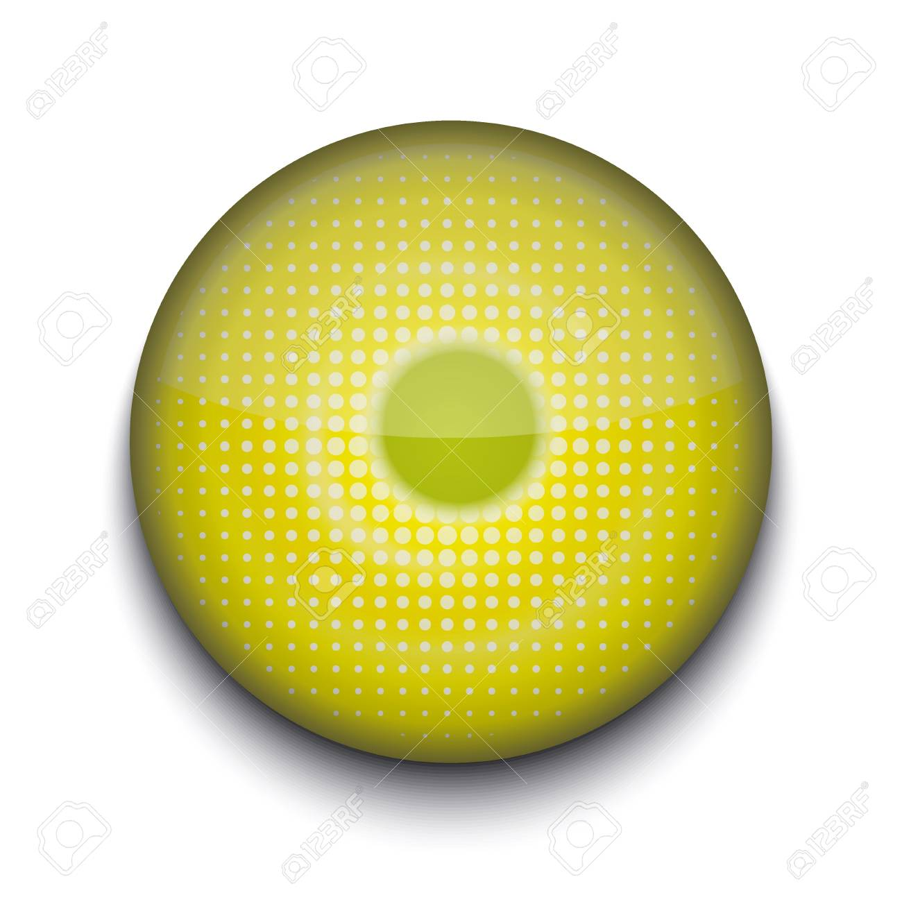 Vector abstract circle app icon on white background Stock Vector - 16200264