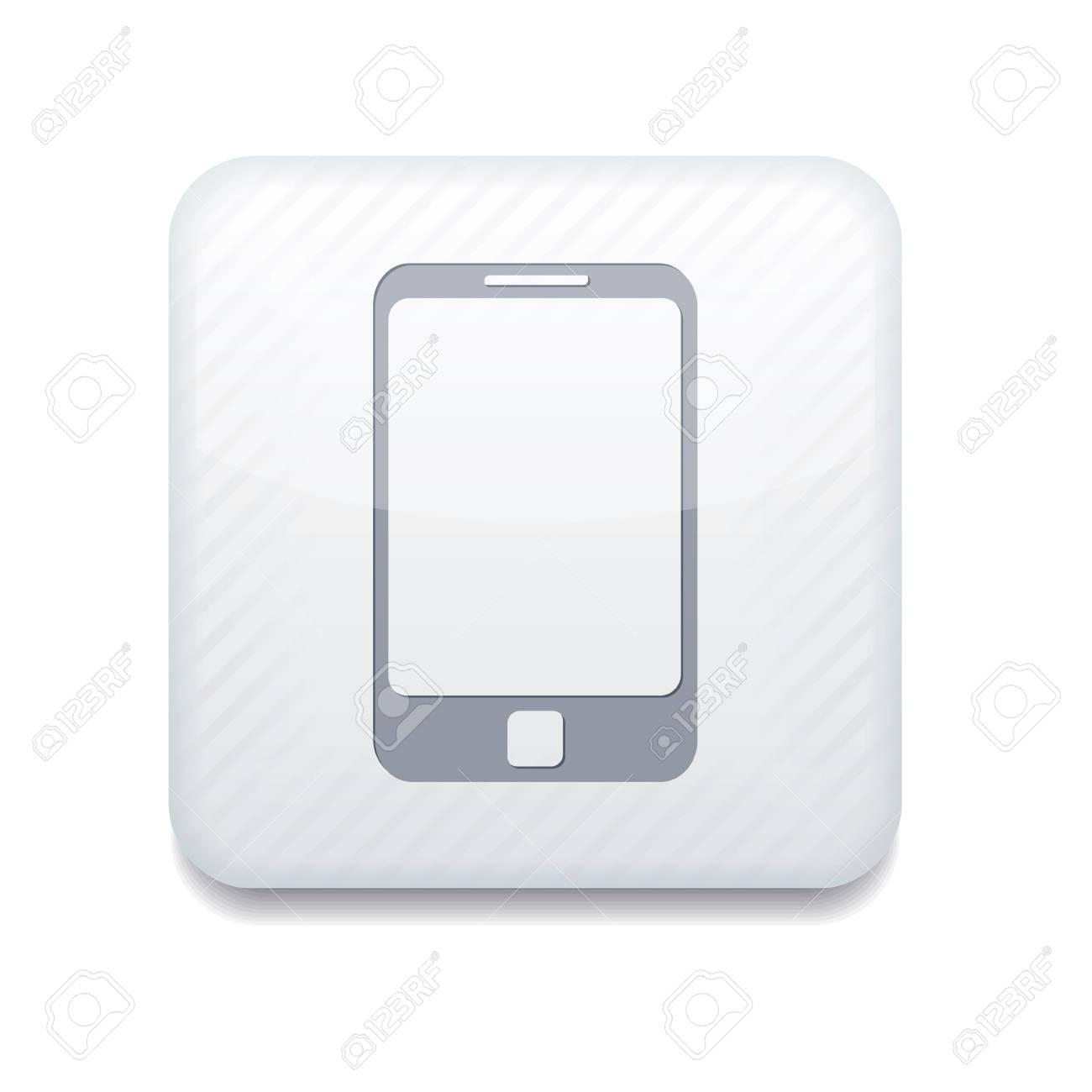 Vector app smartphone white icon Stock Vector - 16200820