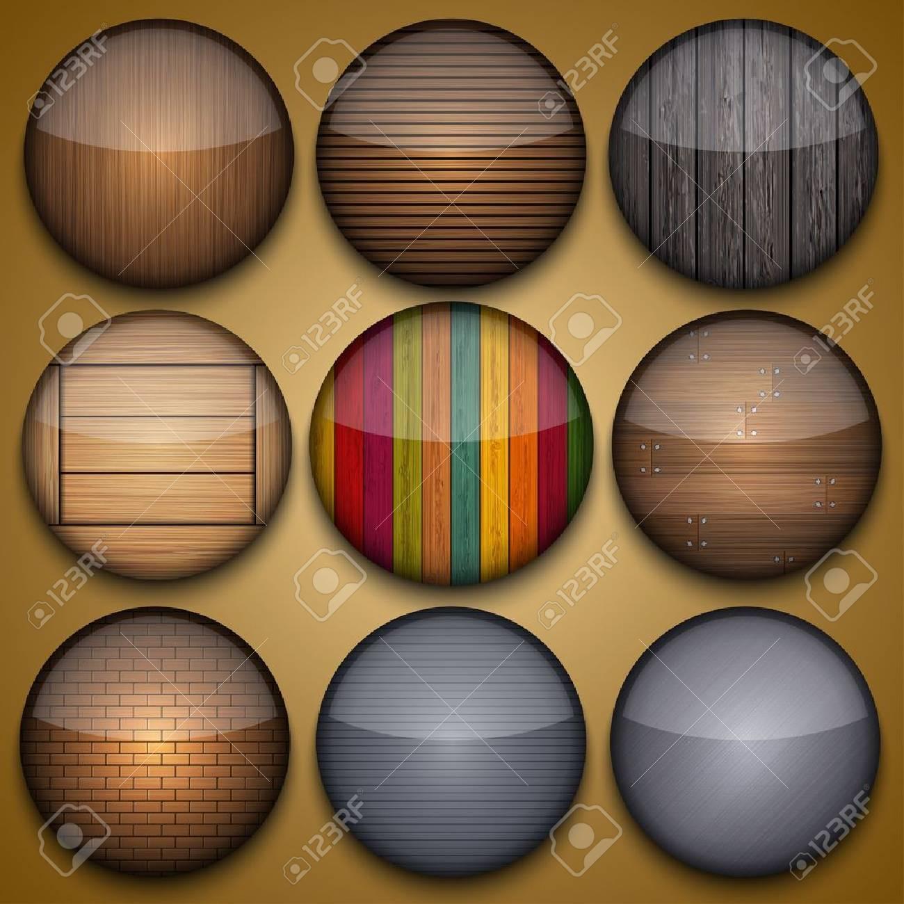 Vector creative circle app set on briwn background. Eps10 Stock Vector - 16773340