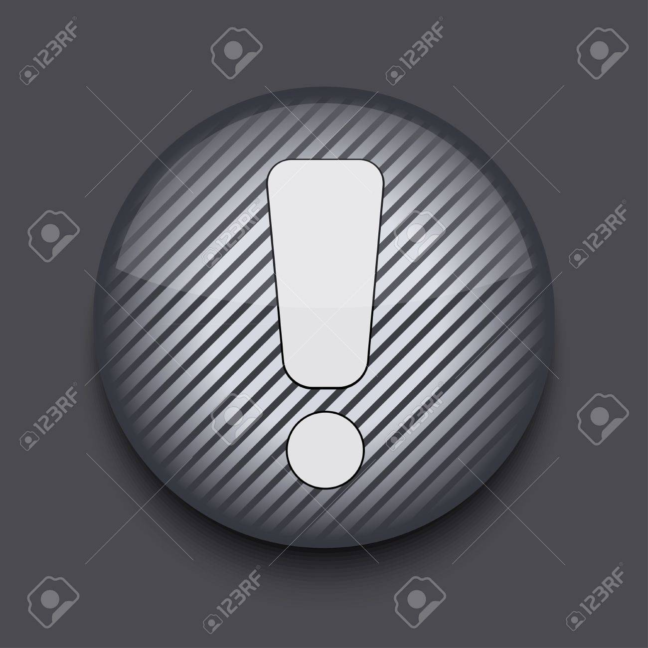 Vector app circle striped icon on gray background. Eps 10 Stock Vector - 16773433