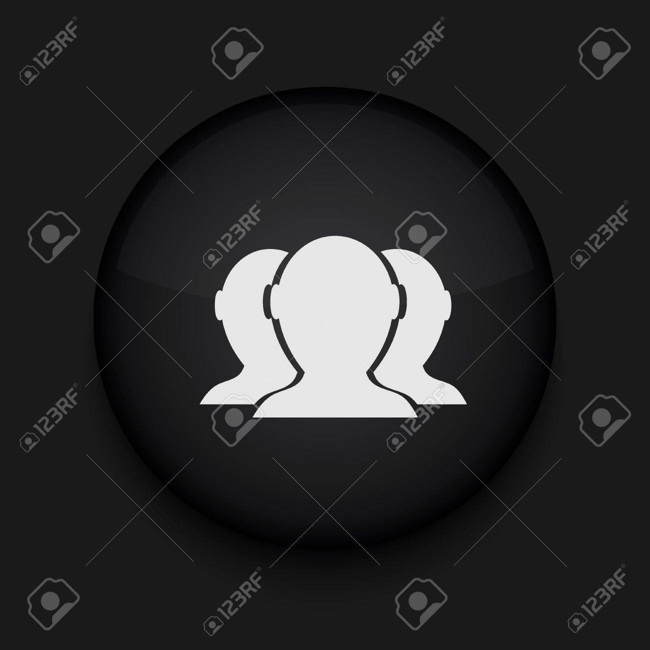 Vector version. Group of friends icon. Eps 10 illustration. Easy to edit Stock Vector - 16773134