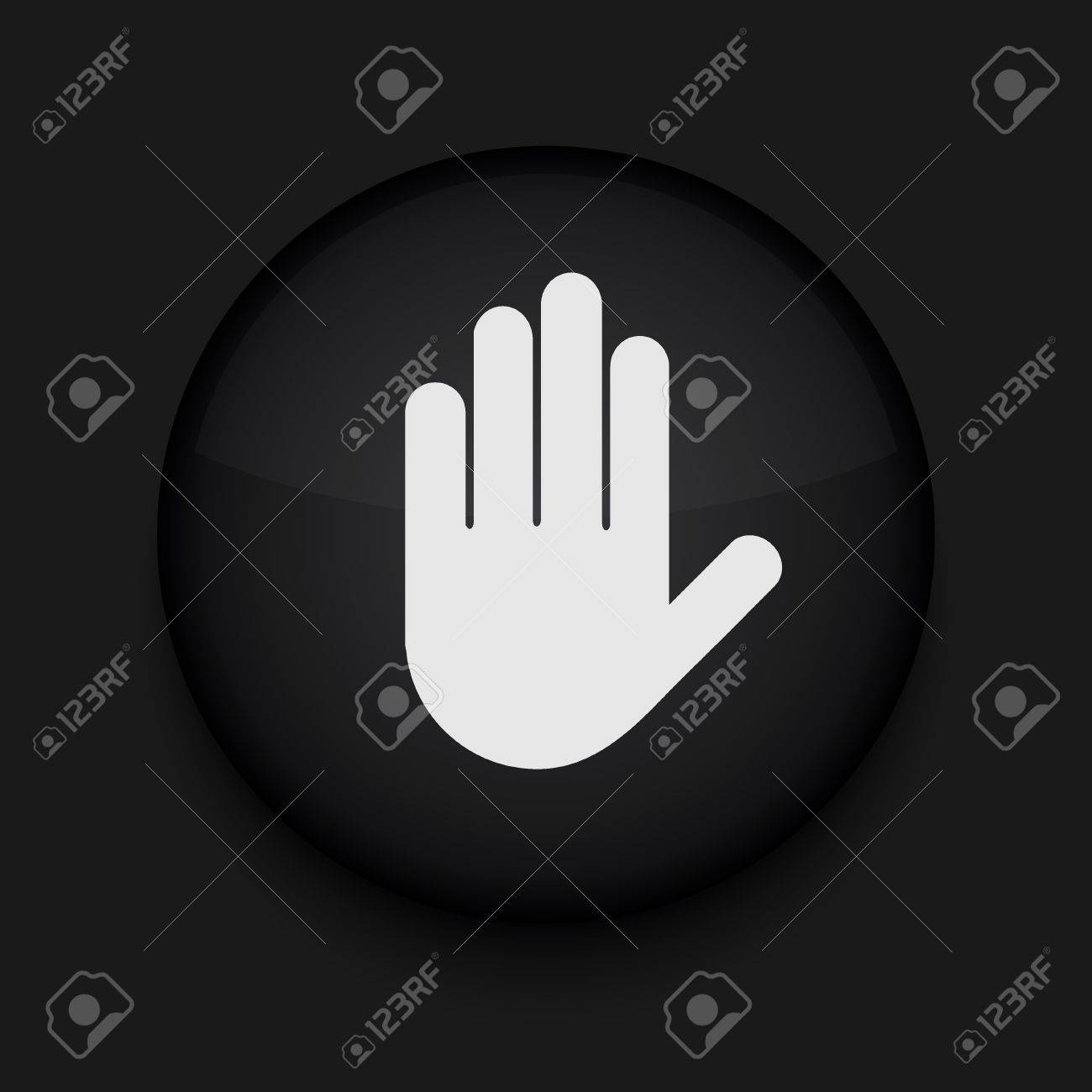 Vector version. Hand icon. Eps 10 illustration. Easy to edit Stock Vector - 16773129