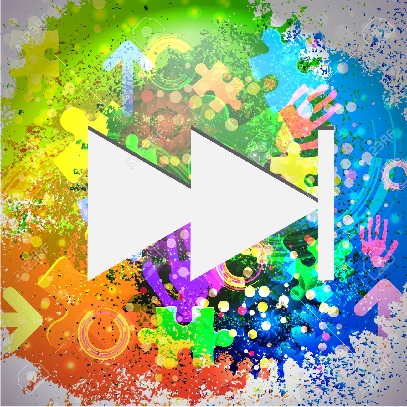 Vector icon. Colorful abstract background. Eps10 Stock Vector - 16773281