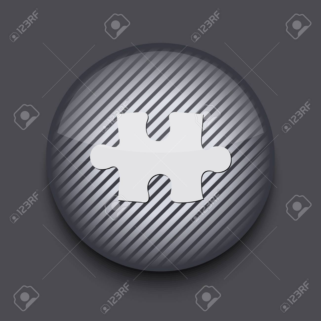 Vector app circle striped icon on gray background. Eps 10 Stock Vector - 16773406