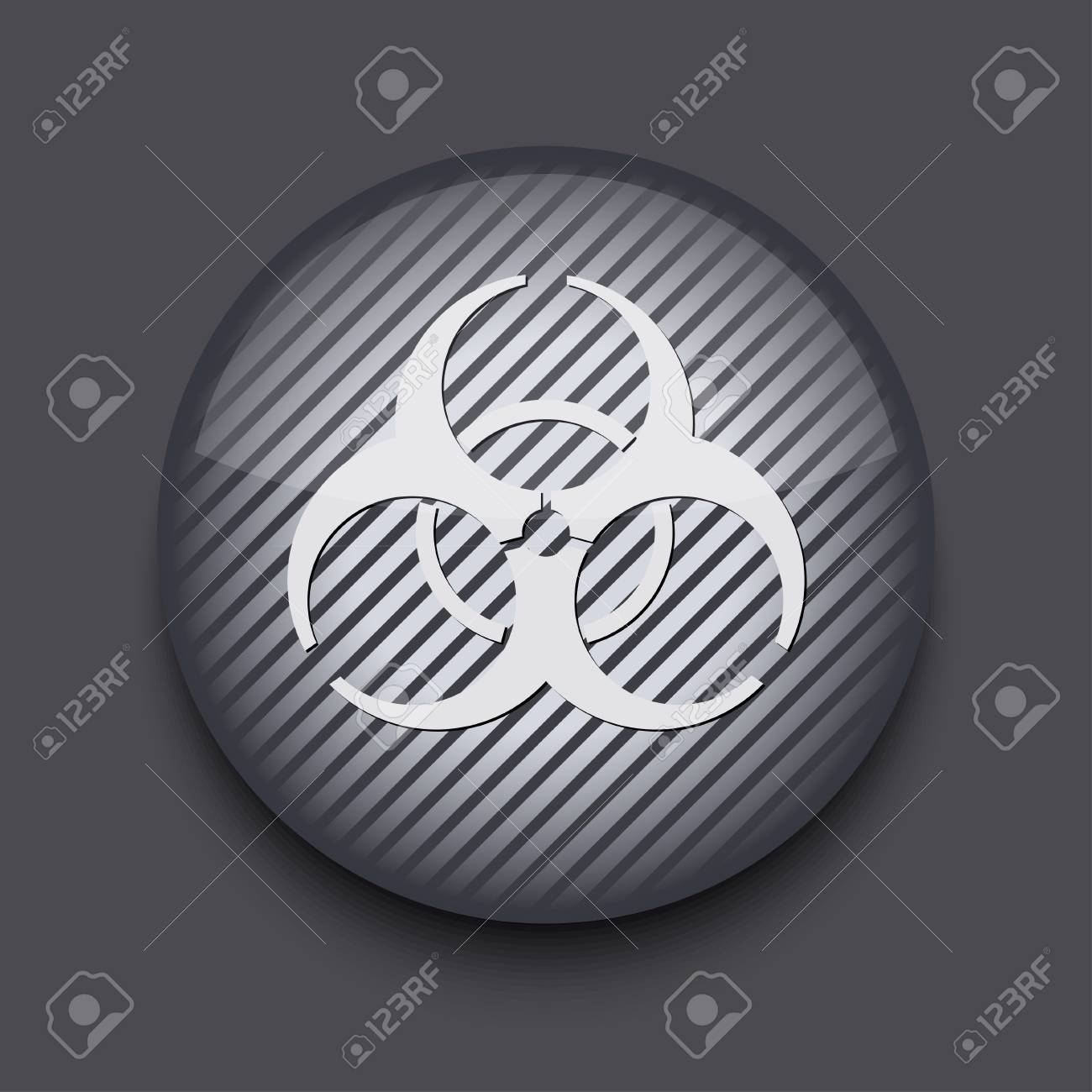 Vector app circle striped icon on gray background. Eps 10 Stock Vector - 16773398