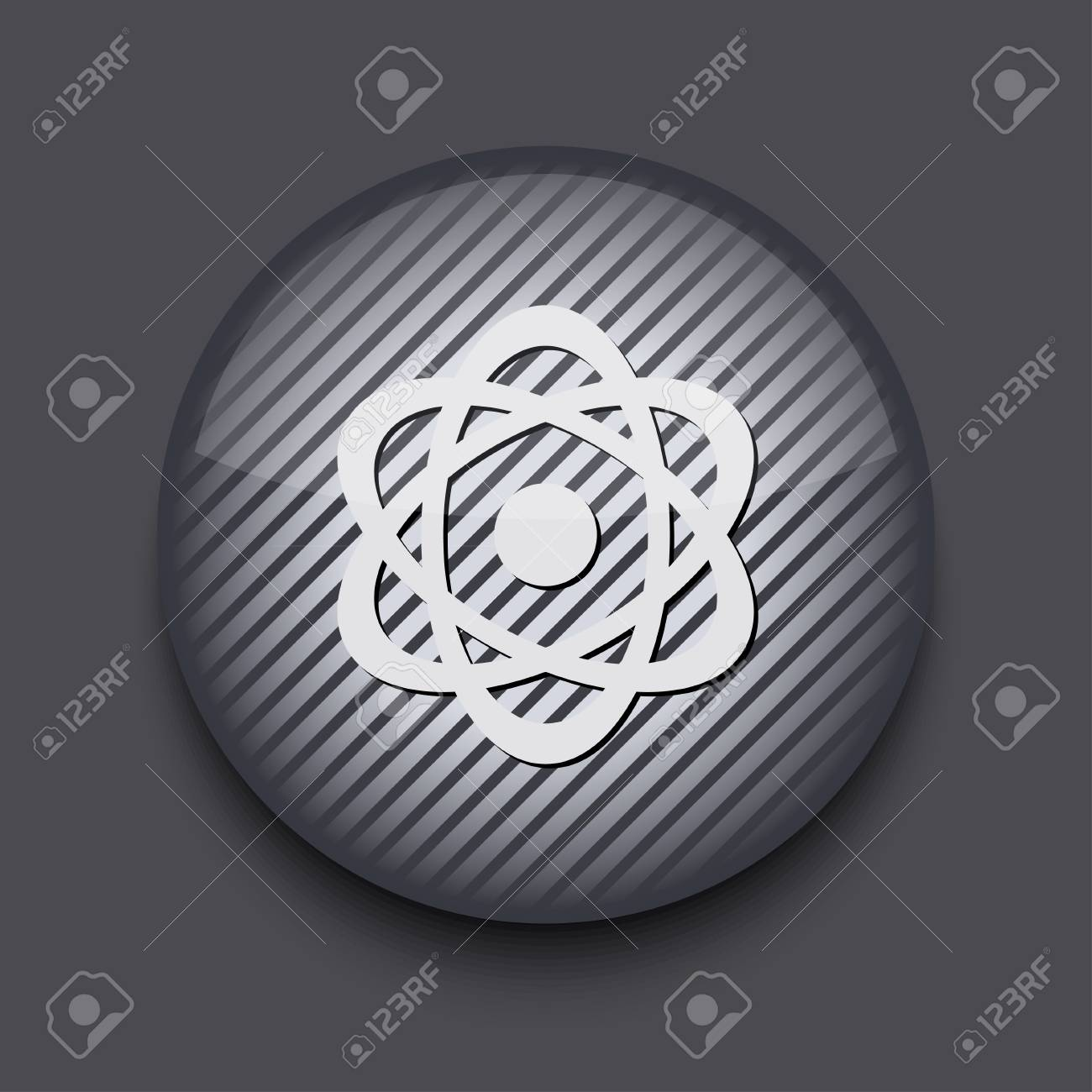 Vector app circle striped icon on gray background. Eps10 Stock Vector - 16773370
