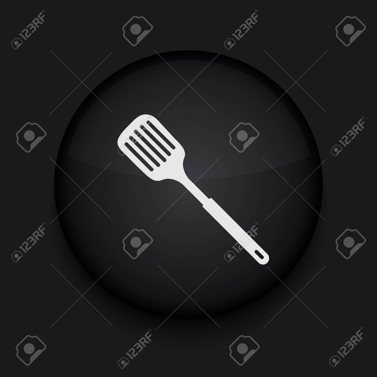 Vector slotted kitchen spoon icon. Eps10. Easy to edit Stock Vector - 16773178