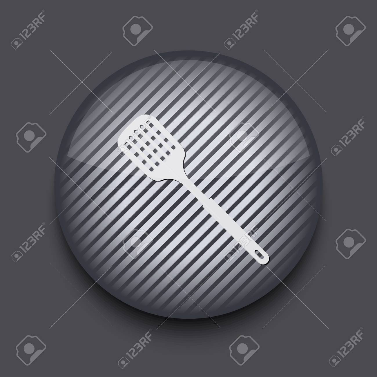 Vector app circle striped icon on gray background. Eps 10 Stock Vector - 16773460