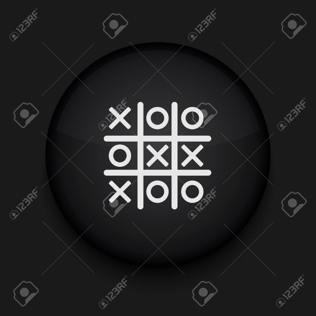 Vector Tic tac toe icon. Eps10. Easy to edit Stock Vector - 16773175