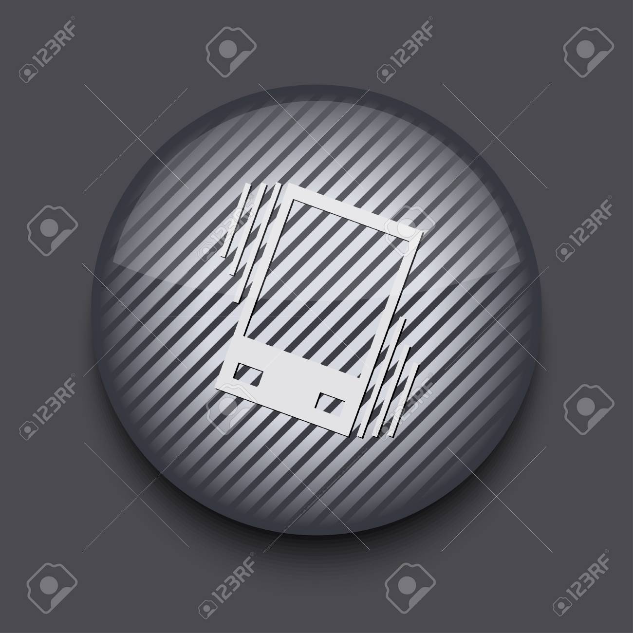 Vector app circle striped icon on gray background. Eps 10 Stock Vector - 16773425