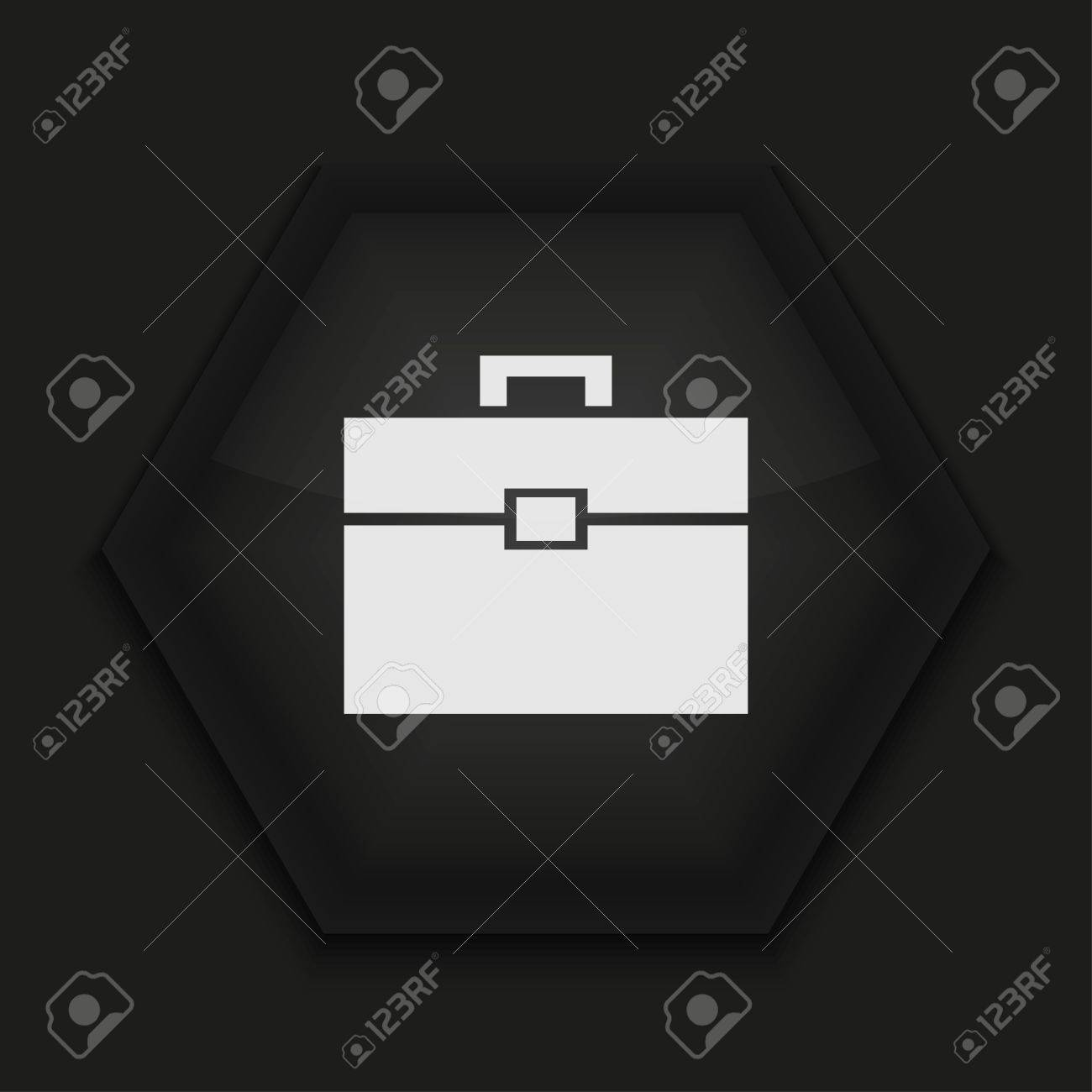 Vector creative icon on black background. Eps10 Stock Vector - 17273400