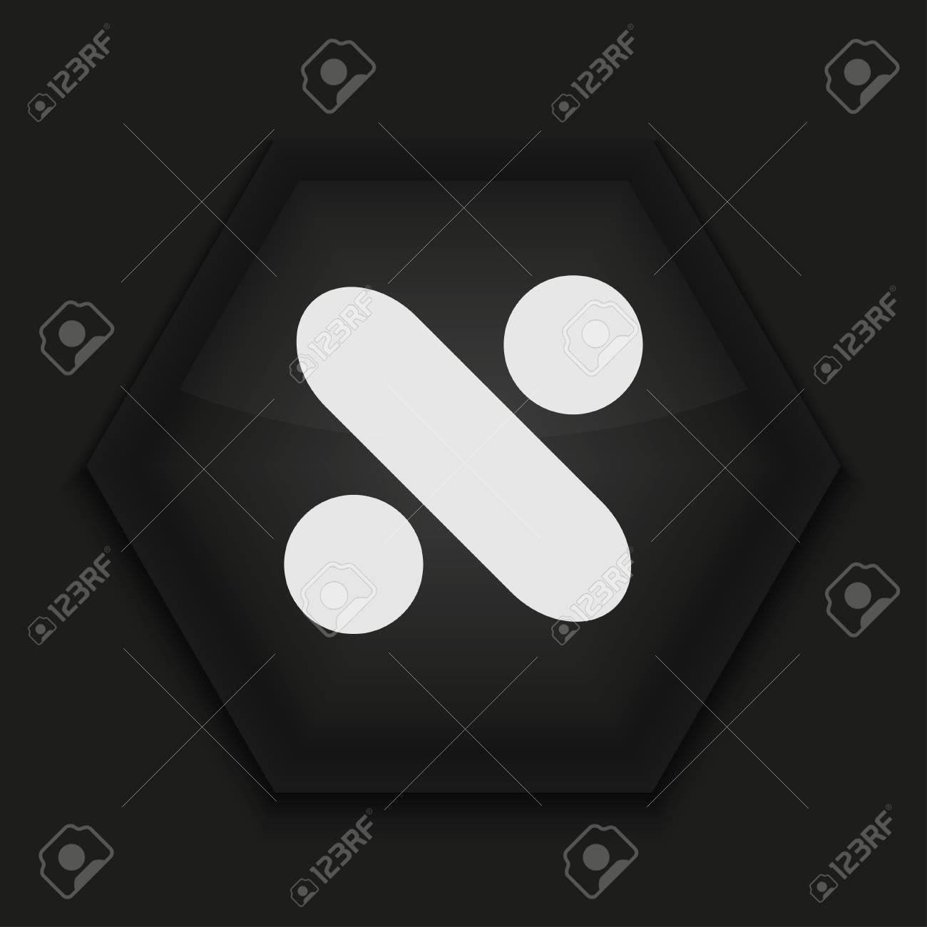 Vector creative icon on black background. Eps10 Stock Vector - 17273858