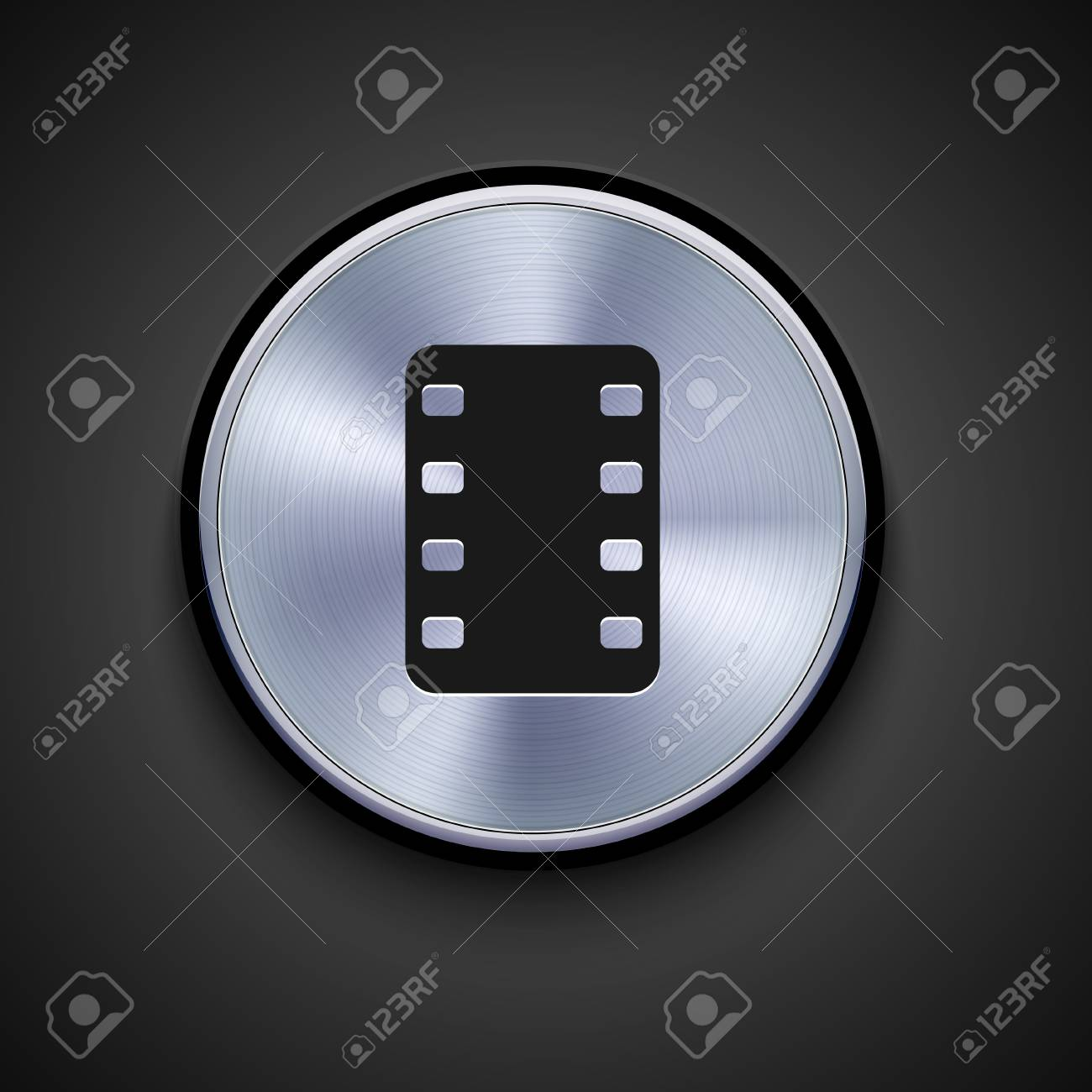 vector metal icon on gray background. Eps10 Stock Vector - 17275247