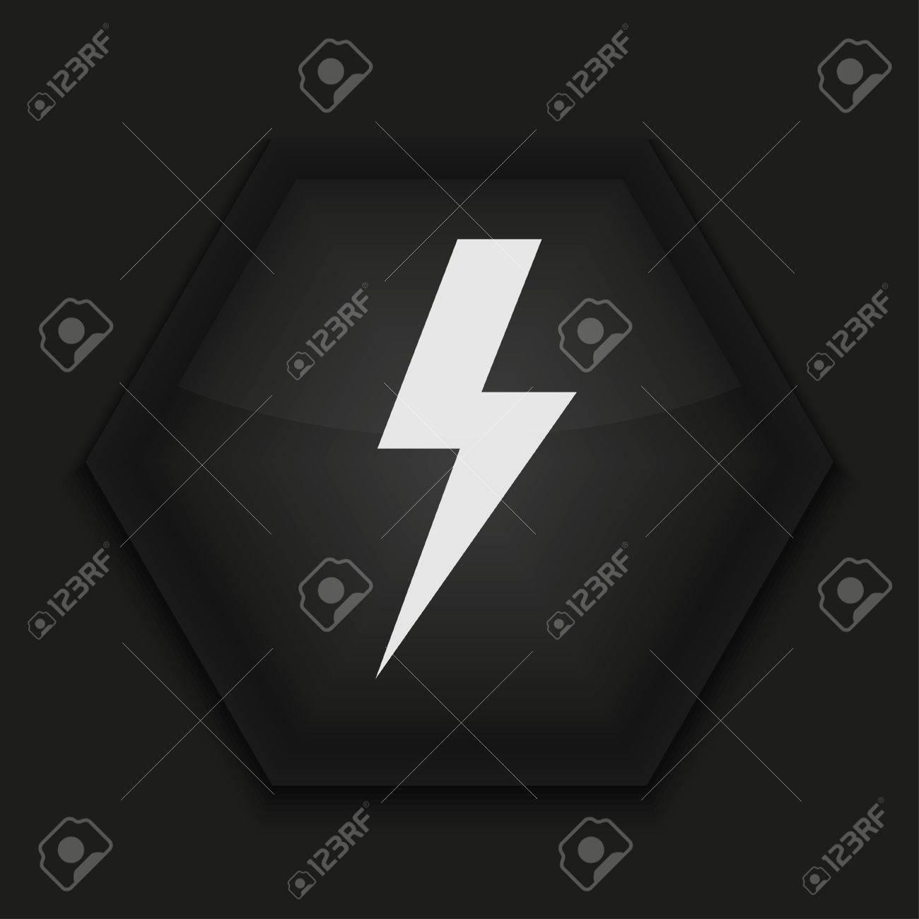 Vector creative icon on black background. Eps10 Stock Vector - 17273848