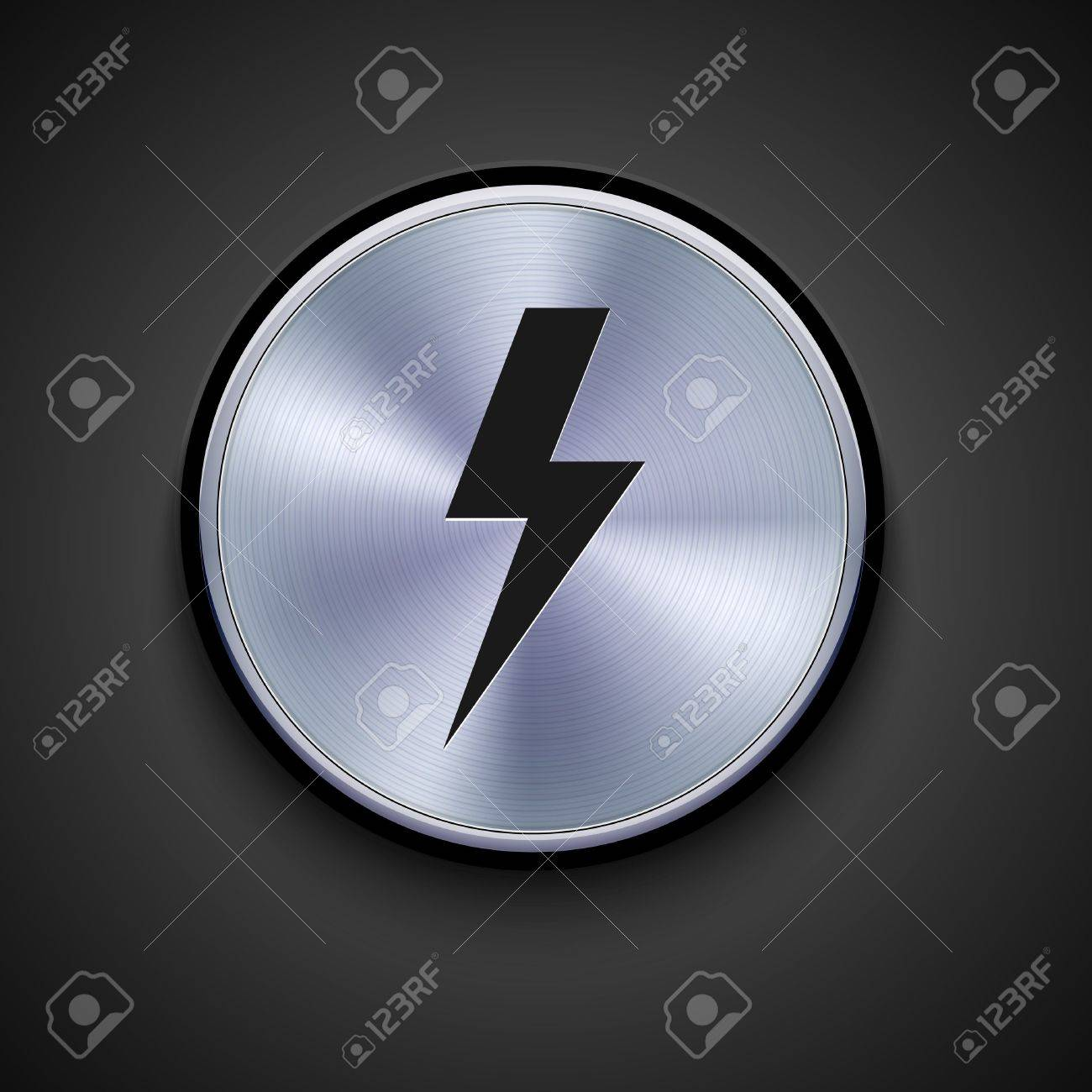 vector metal icon on gray background. Eps10 Stock Vector - 17275336