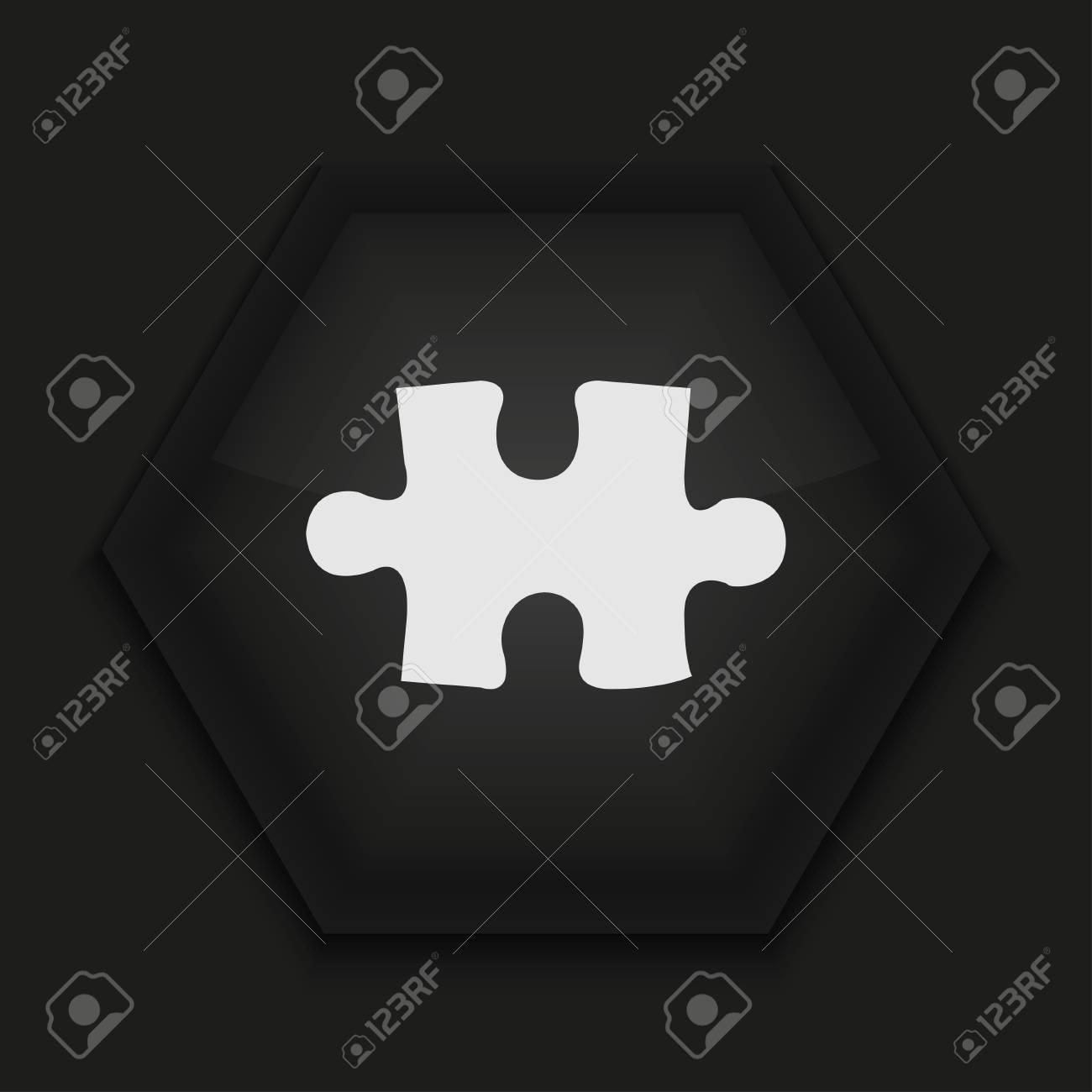 Vector creative icon on black background. Eps10 Stock Vector - 17274219