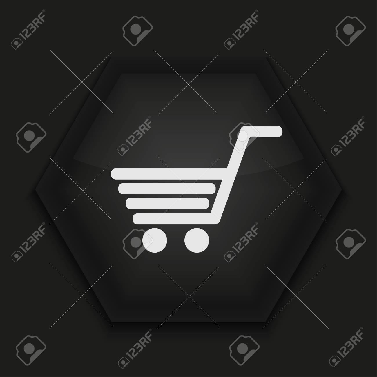 Vector creative icon on black background. Eps10 Stock Vector - 17274344
