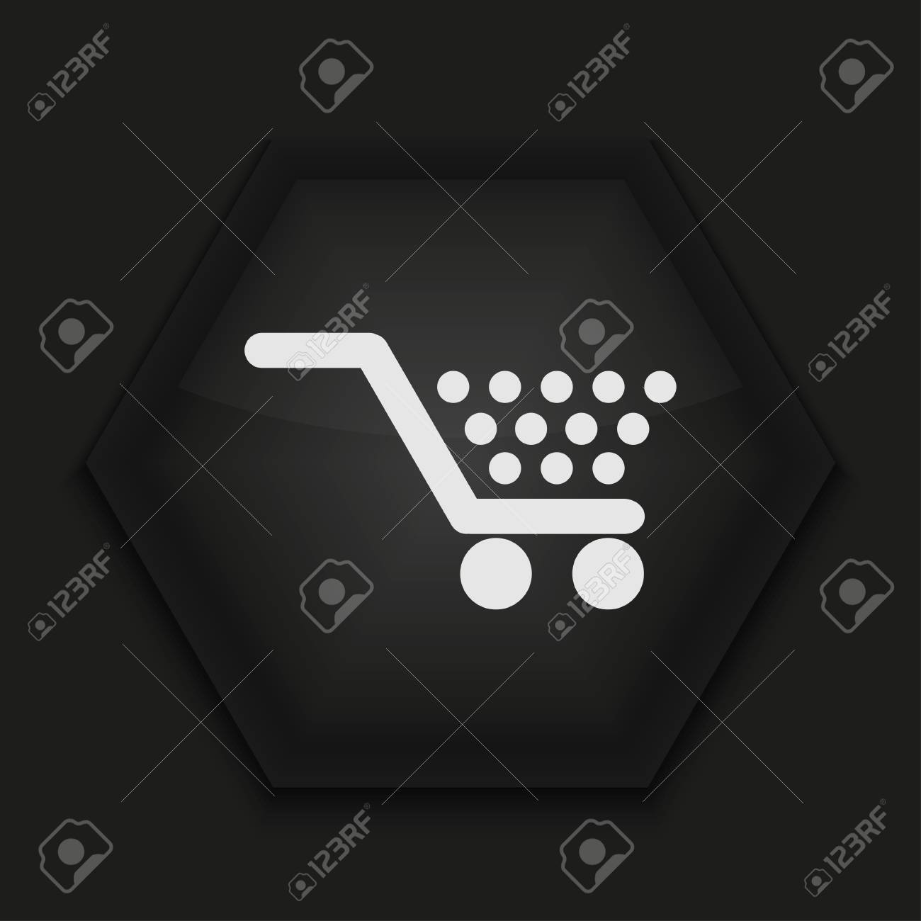 Vector creative icon on black background. Eps10 Stock Vector - 17274345