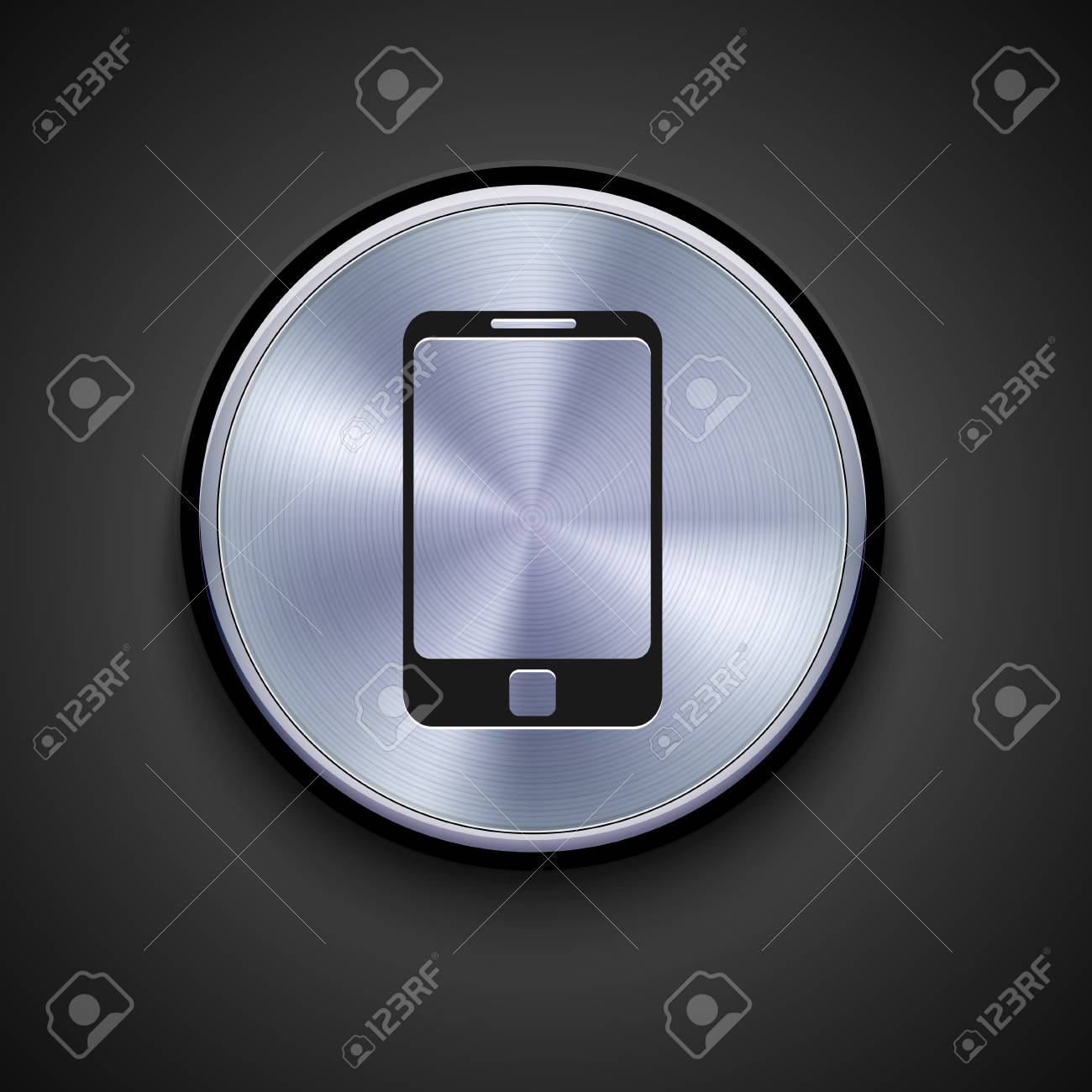 vector metal icon on gray background. Eps10 Stock Vector - 17275505