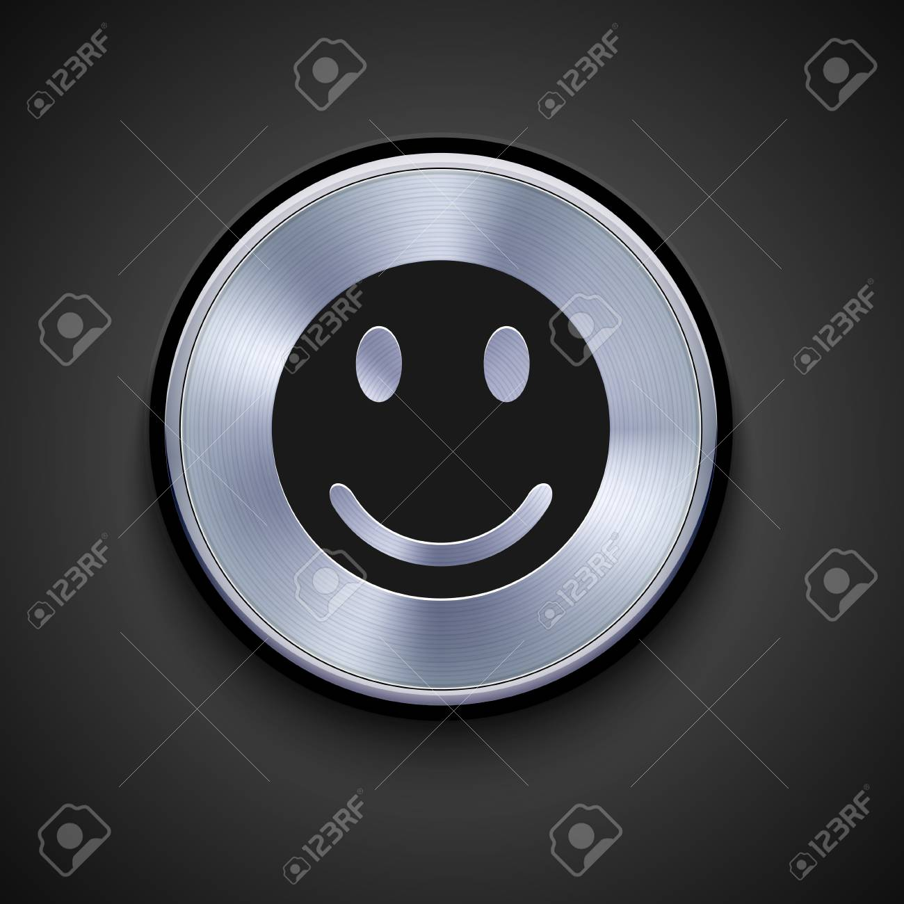 vector metal icon on gray background. Eps10 Stock Vector - 17275295