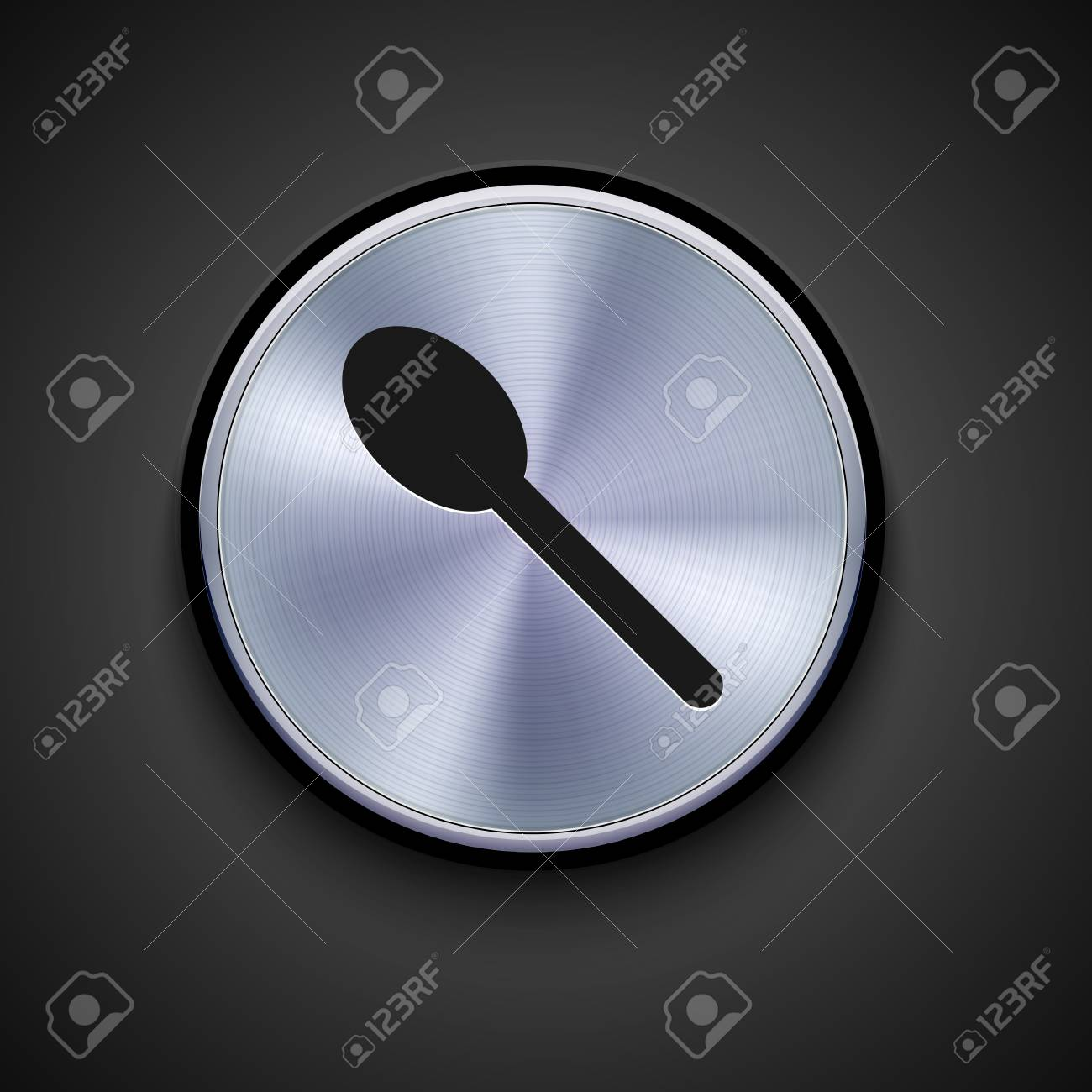 vector metal icon on gray background. Eps10 Stock Vector - 17275495