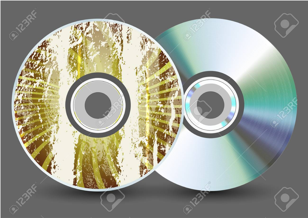 Vector disk on gray background. Eps10 Stock Vector - 17681953