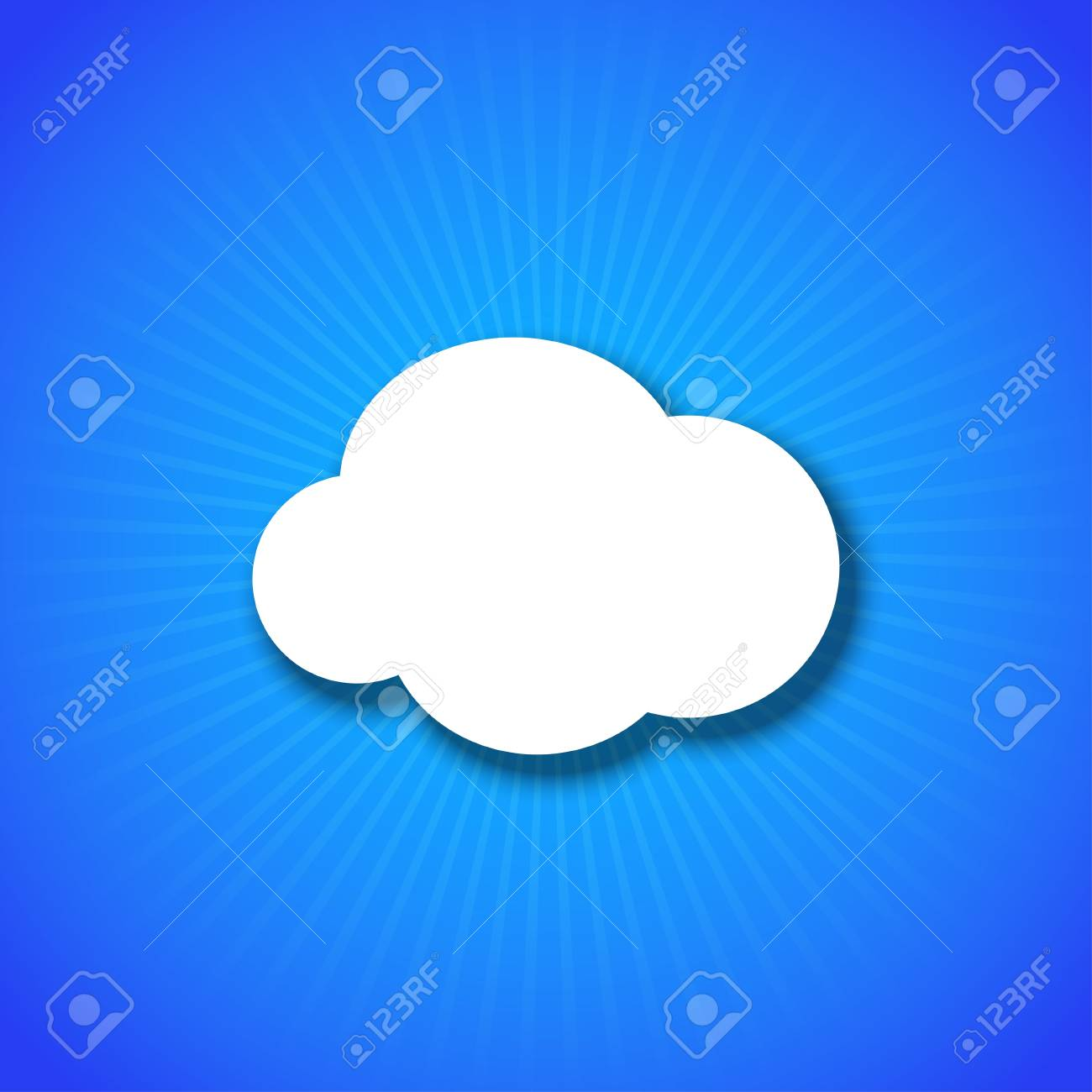 Vector cloud design element with place for your text. Eps10 Stock Vector - 17682262