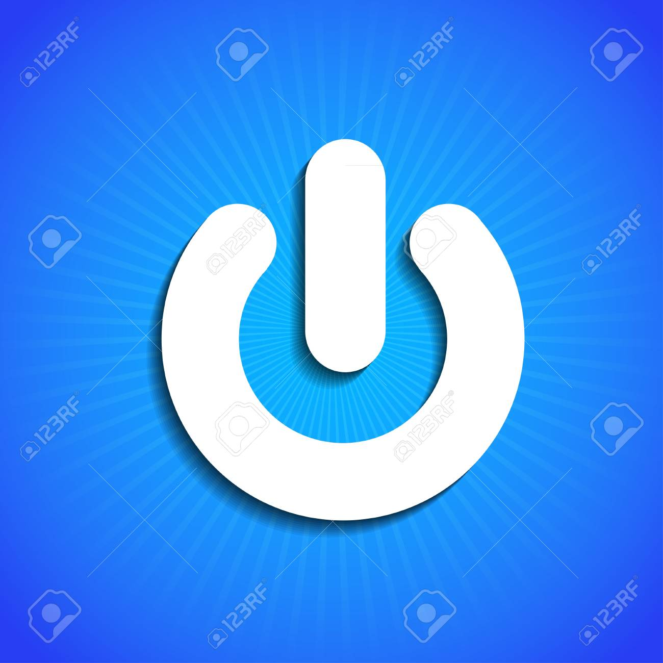 Vector icon on blue background. Eps10 Stock Vector - 17682303