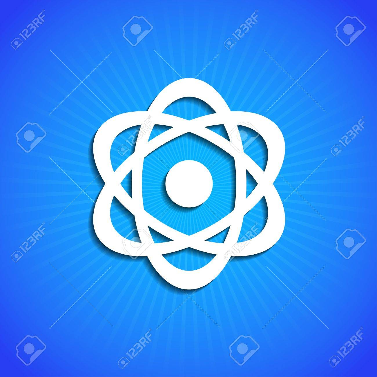 icon on blue background. Stock Vector - 17681745