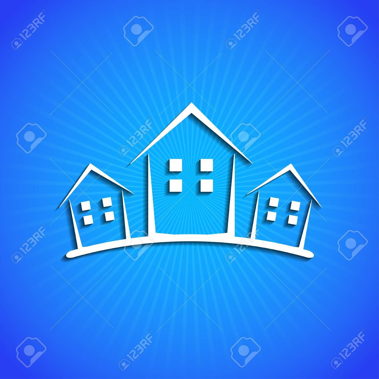 icon on blue background. Stock Vector - 17681746