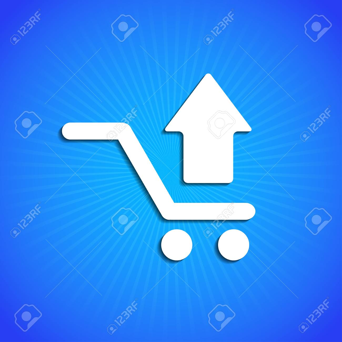 Vector icon on blue background. Eps10 Stock Vector - 17682310