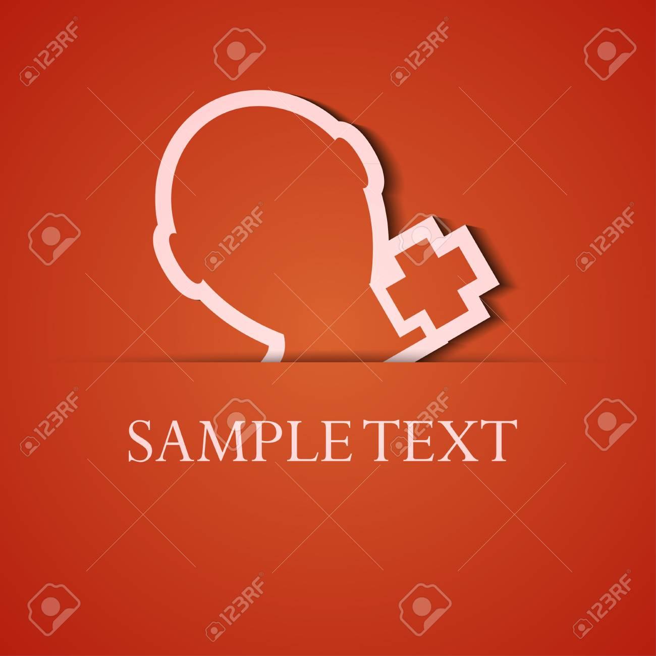 background. Orange icon applique. Stock Vector - 18073837
