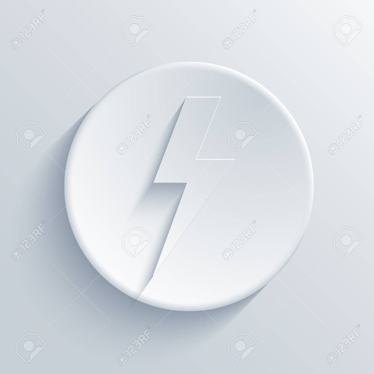 light circle icon. Stock Vector - 18666709