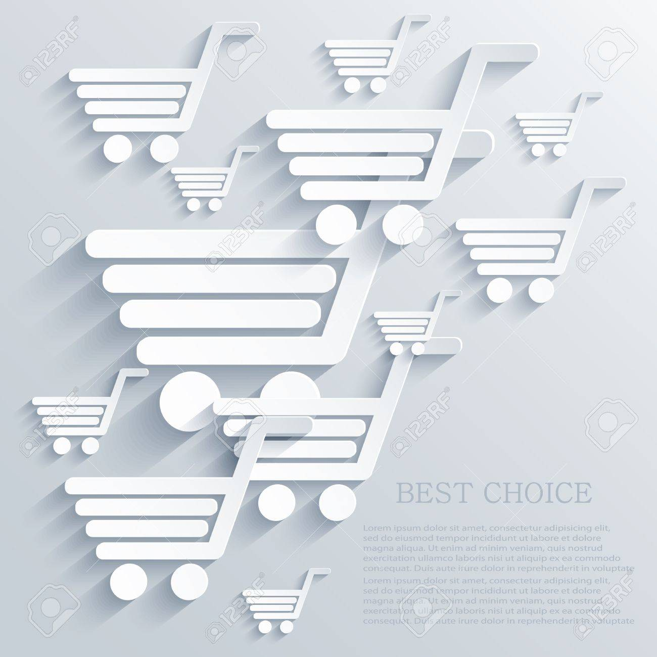 shopping backgrounds. Stock Vector - 20574523
