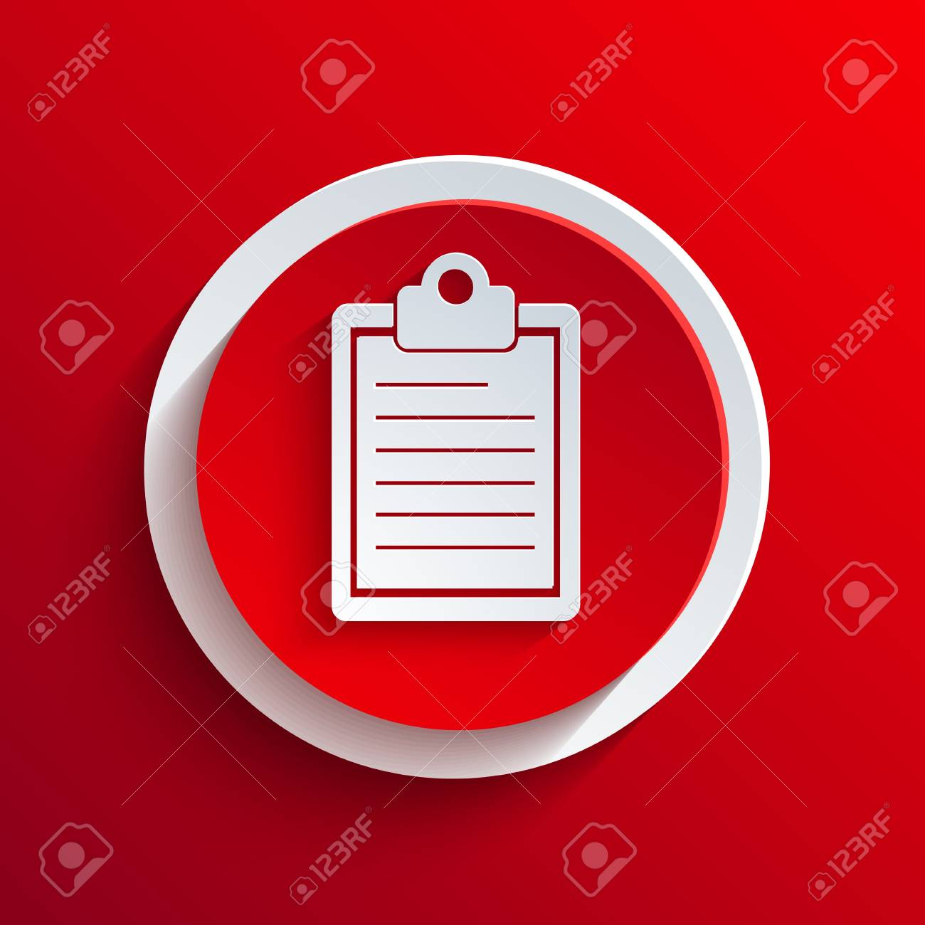 Vector red circle icon. Stock Vector - 21377213