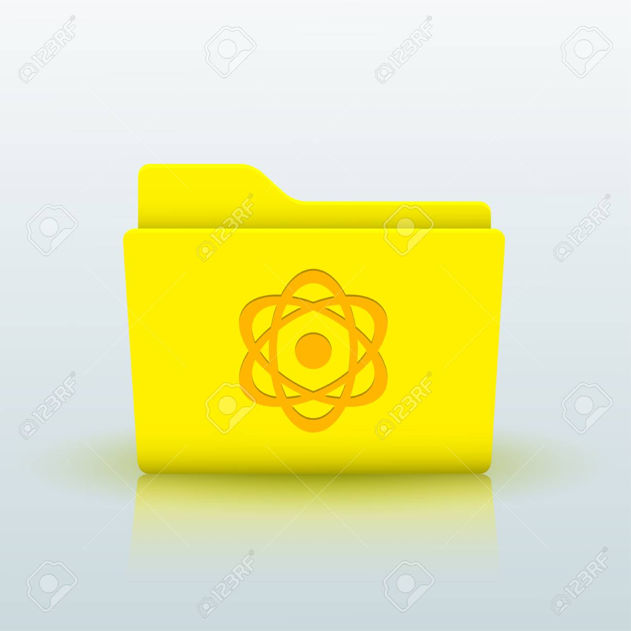 Vector yellow folder on blue background. Eps10 Stock Vector - 24808231
