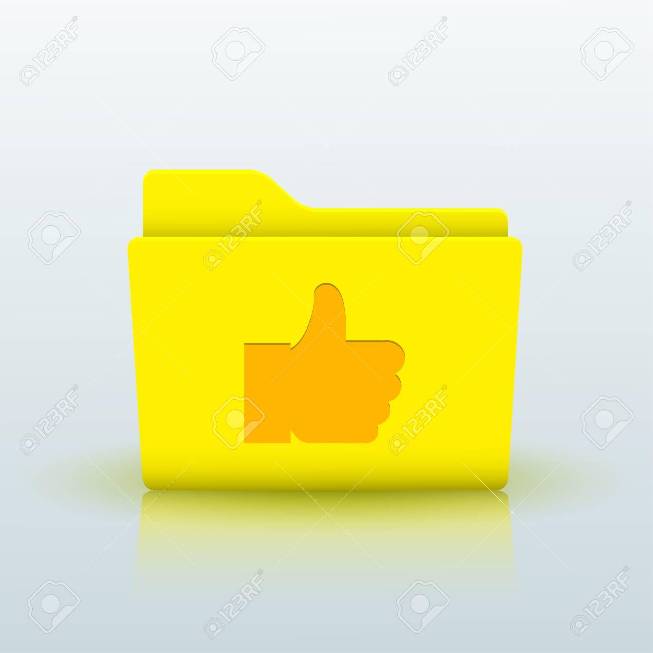 Vector yellow folder on blue background. Eps10 Stock Vector - 24809250