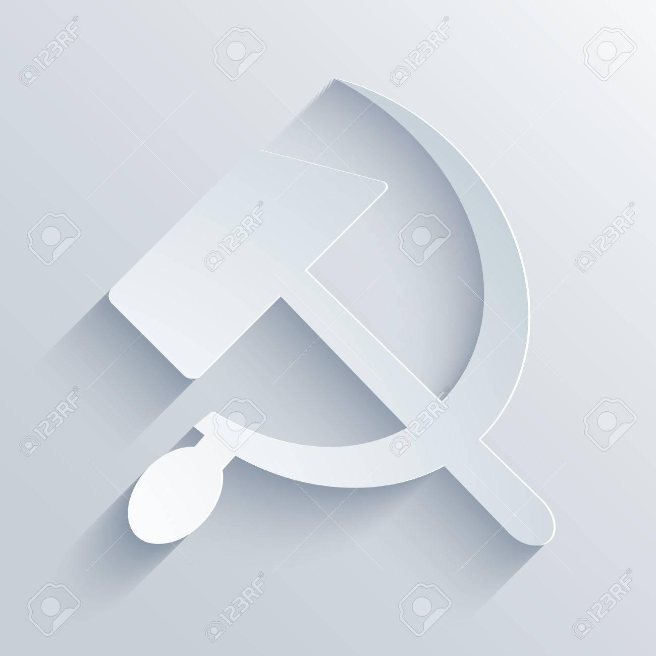 Modern Sickle And Hammer Symbol Background