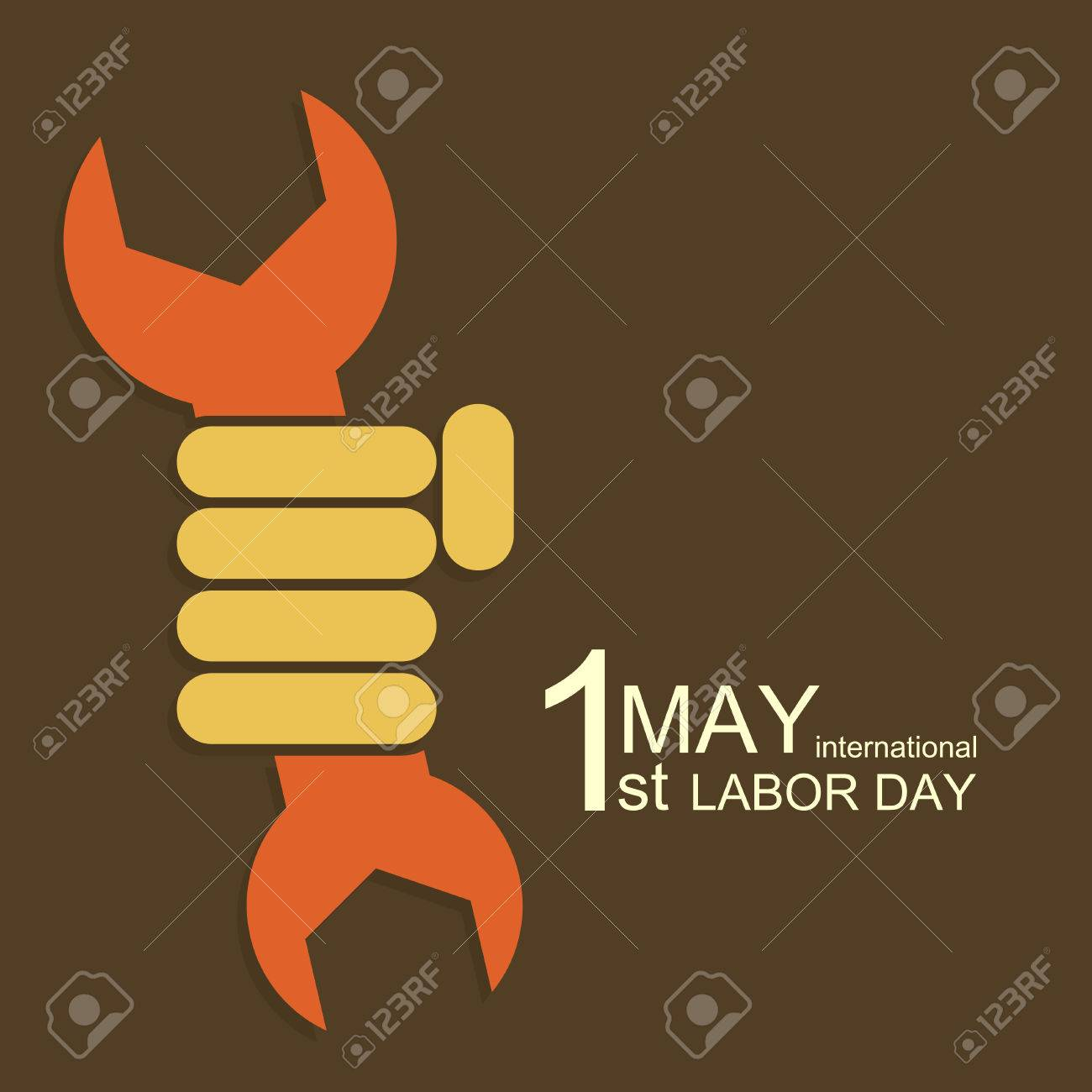 Vector Modern 1 May International Labour Day Royalty Free Cliparts